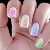 pastel rainbow gradient dotted easter nails