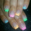 pastel tips rainbow dotted easter nails
