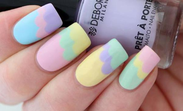 pastel wavy spring easter nails