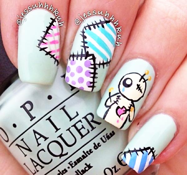 patchy voodoo pastel nails