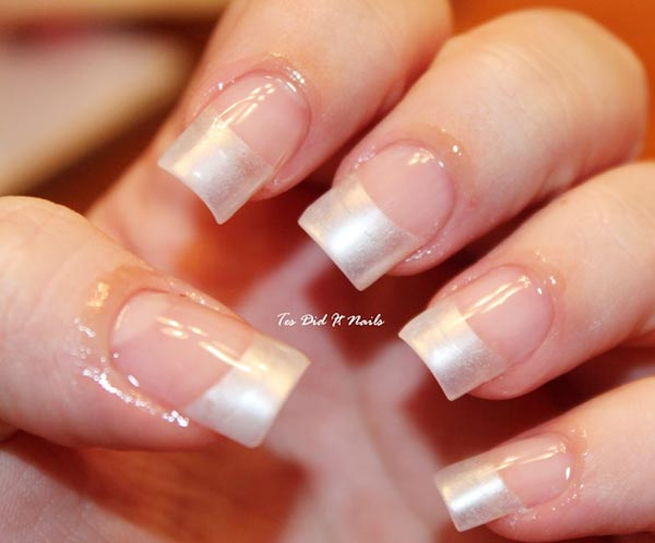 Perfect Pearl French Wedding Nails