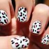 pink black cheetah baby blue nails