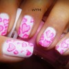 pink lace hearts girly nails