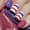 pink purple striped textured nails