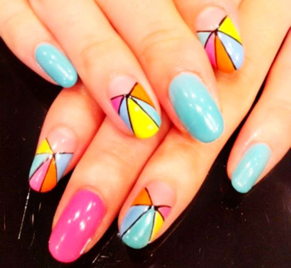 pinwheel pastels candy party nails