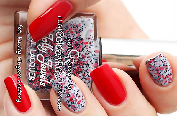 poppy accents spring summer red nails