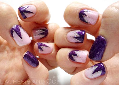 purple glitter geometry