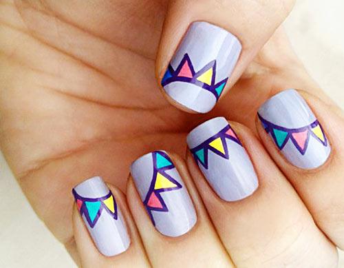 purple party nails