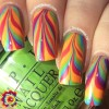 rainbow marbled nails