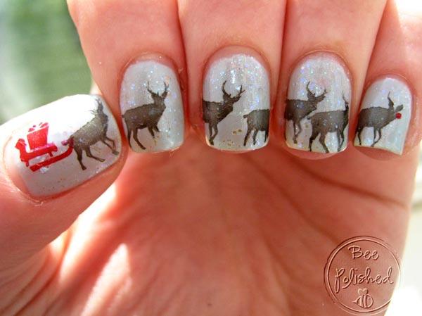 reindeer winter nails