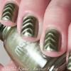 shimmer green magnetic nails