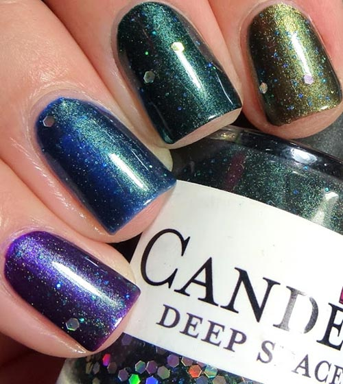shimmer ombre nails