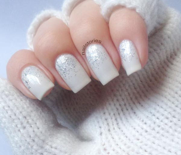 Fabulous White with Silver Glitter Nails 600 x 514 · 32 kB · jpeg