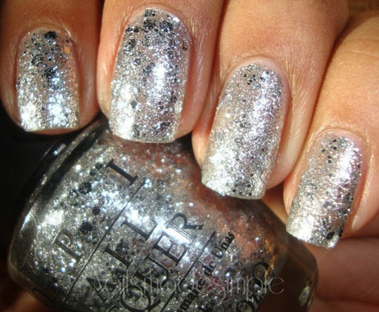 silver glitter new years eve nails