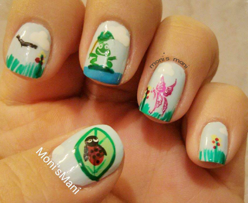 spring nature lovely nails