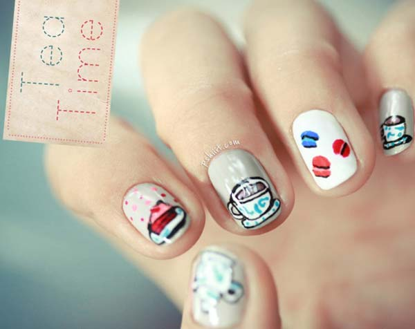 tea time cute nails