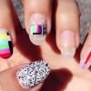 technicolor vintage tv decals nails