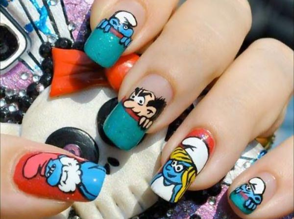 the smurfs nails