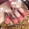 white gold party new year's eve nails