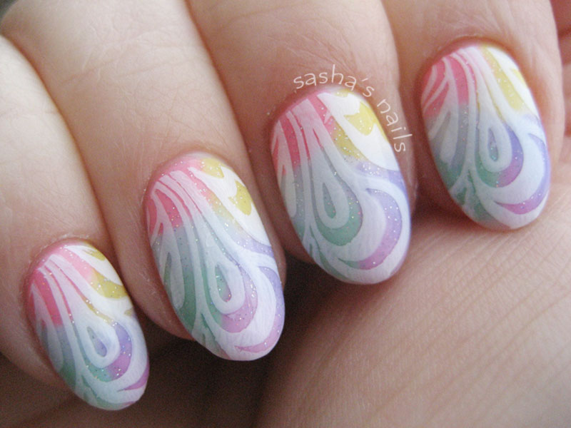 white stamped pastel gradient easter nailswhite stamped pastel gradient easter nails