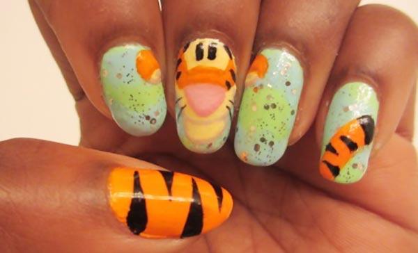 winnie tigger fun nails