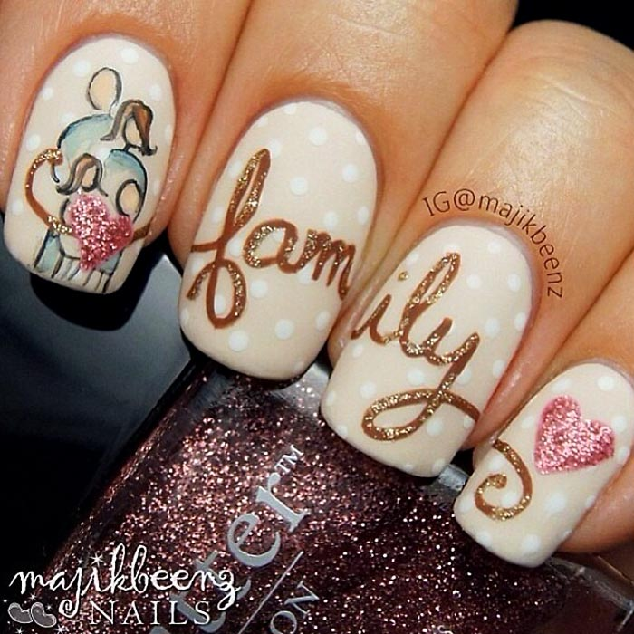winter holidays special family nails