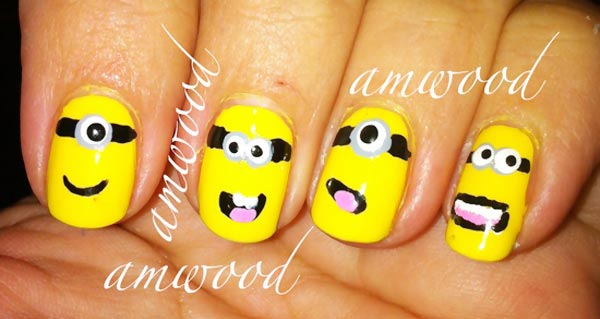 despicable me minions yellow nails